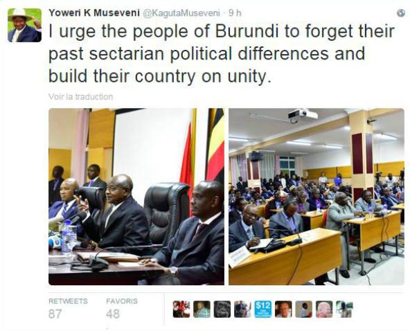 Yoweri K Museveni/Twitter