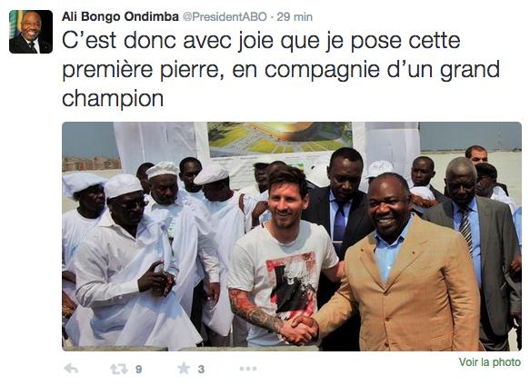 Capture d'écran Twitter/Ali Bongo