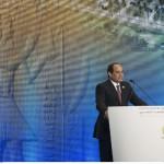 Sissi lors de la Conférence pour le développement économique de l'Egypte, à Charm el-Cheikh, le 13 mars