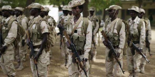 Des soldats tchadiens à N'Djamena, en mars 2015.