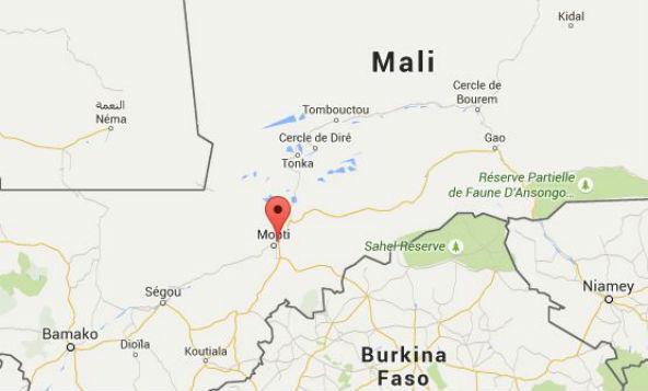 La ville de Sévaré, près de Mopti au nord de Bamako.