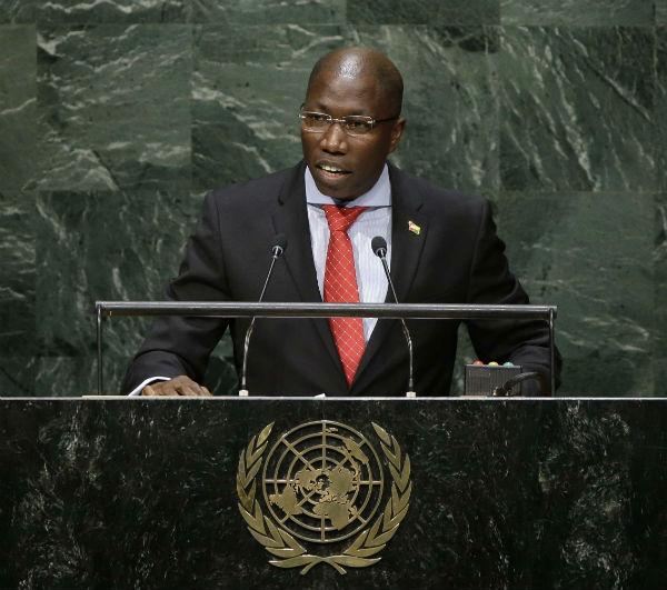 Domingos Simoes Pereira, ancien Premier ministre de la Guinée-Bissau, livre un discours devant les Nations unies, septembre 2014.