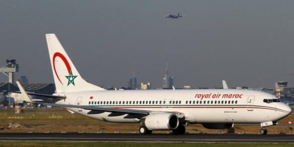 Un Boeing de la Royal Air Maroc, qui prévoit de se séparer de 26 appareils en 2021.