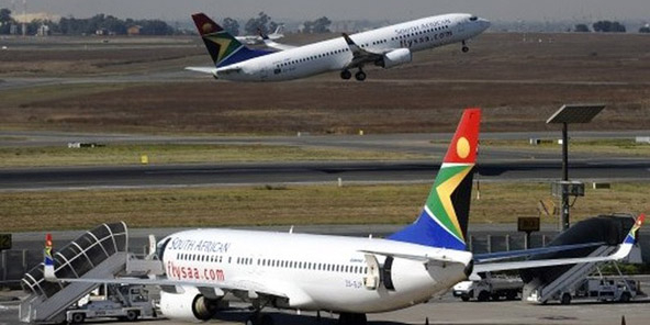 Des avions de la compagnie South African Airways.