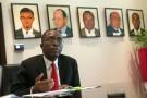 Augustin Matata Ponyo, Premier ministre de la RDC, dans les locaux de la Primature à Kinshasa le 14 octobre 2014.
