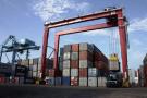 Vue du terminal à conteneurs du port de Douala, au Cameroun.