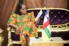 Catherine Samba Panza, à Bangui, le 20 mars 2014.