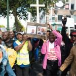 Rassemblement de l'opposition congolaise contre Joseph Kabila et Étienne Tshisekedi, à Bruxelles, le 28 août.