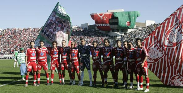 Match entre le Wydad et le Raja de Casablanca, en 2008
