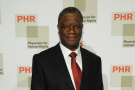 Le gynécologue congolais Denis Mukwege, le 28 avril 2015 à New York.