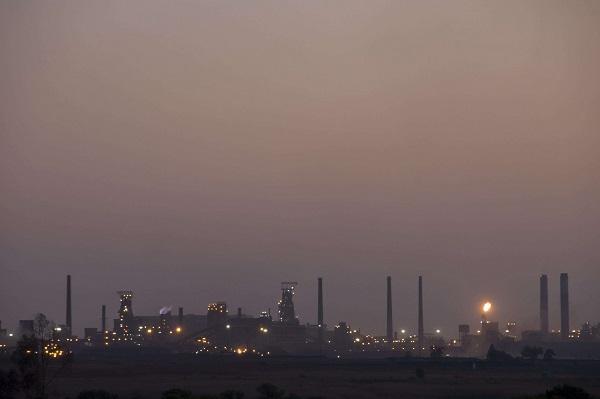 L'usine ArcelorMittal à Vanderbijlpark, au sud de Johannesburg, en Afrique du Sud.