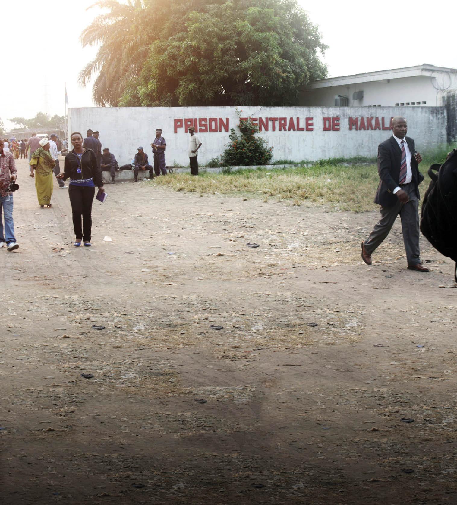 La prison de Makala, à Kinshasa, en RDC.