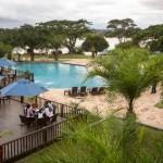 L'hôtel Grand Karavia, au bord du lac Kipopo, à Lubumbashi, en République démocratique du Congo, le 22 février 2015.