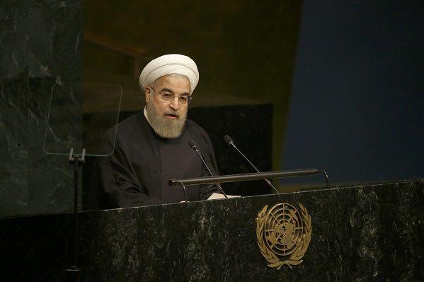 Hassan Rohani, le président iranien, à la tribune de l'ONU le 26 septembre 2015