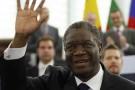 Denis Mukwege lors de la remise de son prix Sakharov, en 2014.