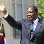 Alassane Ouattara, à Paris, le 26 juillet 2012