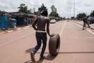 Dans les rues de Ouagadougou, le 22 septembre 2015