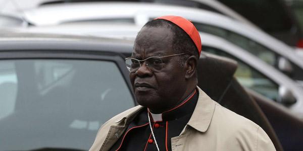 Le cardinal Laurent Monsengwo Pasinya au Vatican, le 6 mars 2013