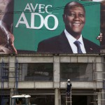 Une affiche d'ADO dans les rues d'Abidjan, le 21 octobre 2015