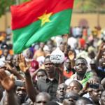 Place de la Nation, à Ouagadougou, le 25 avril. Manifestation de soutien au nouveau code électoral