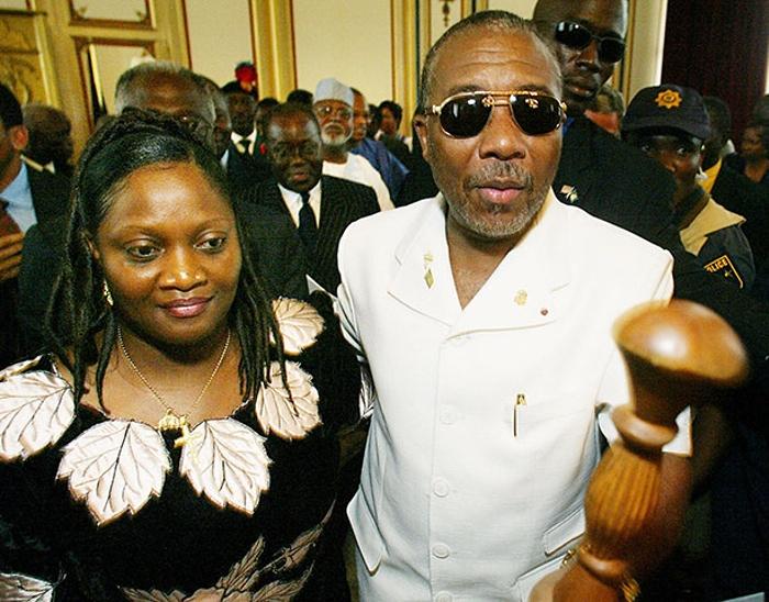 Jewel Howard-Taylor et son ancien mari, le 11 août 2003.