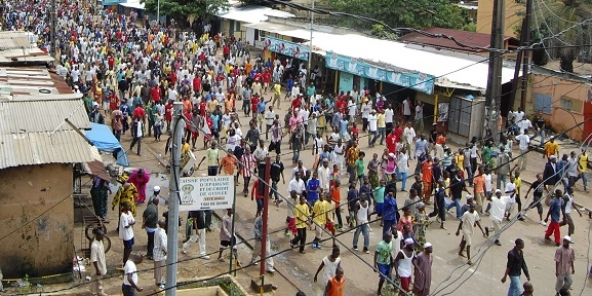 Une manifestation à Conakry en 2009 (photo d'illustration).