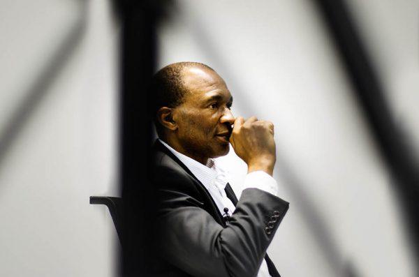 Thierry Michel Atangana, le 21 octobre, au siège de Jeune Afrique.
