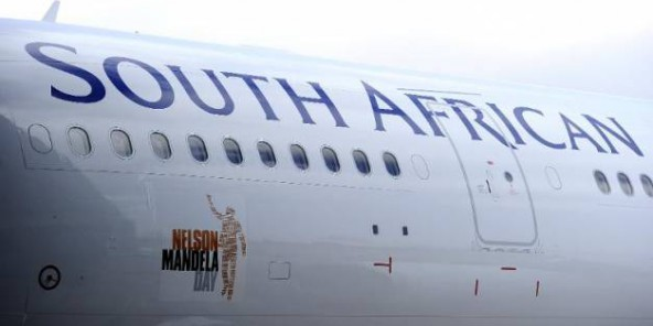 Un avion de la South African Airways le 4 juillet 2011 à Johannesburg.