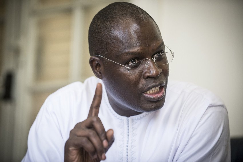 Khalifa Sall en 2015 à la mairie de Dakar.
