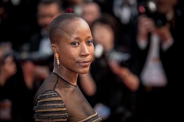 Rokia Traoré lors de son arrivée au festival de Cannes en 2015.