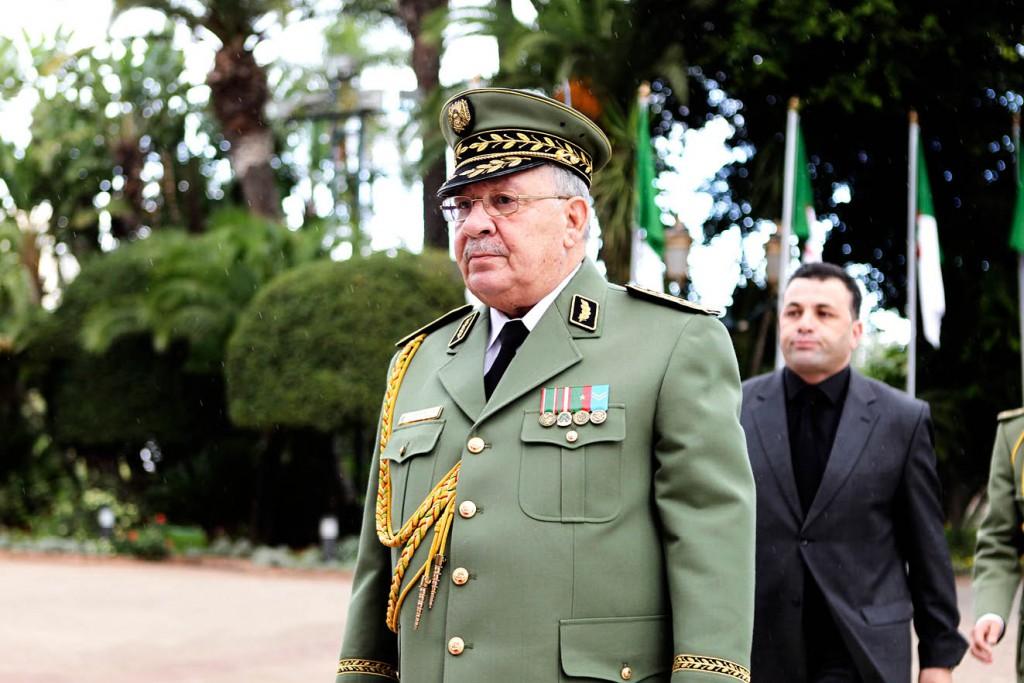 Le général Ahmed Gaïd Salah, vice-ministre de la Défense et chef d'état-major de l'armée.