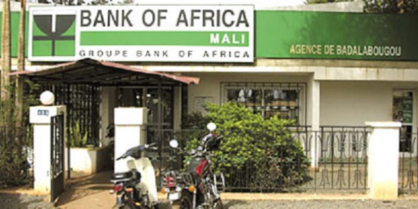 Une agence Bank of Africa Mali.