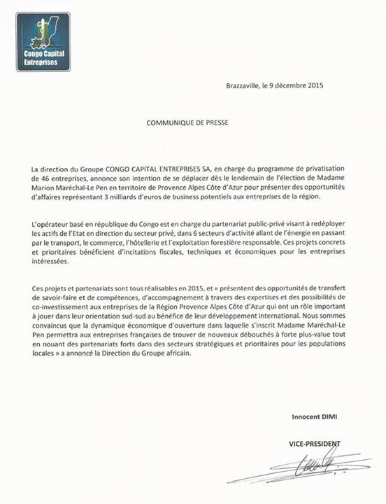 Lettre-CongoCE-LePen