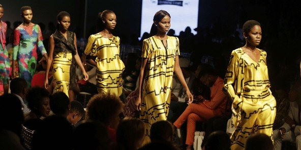 Un défilé à la Fashion Week de Lagos, le 29 octobre 2015