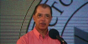 James Michel à Victoria (Seychelles), le 18 décembre 2015.