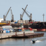 Le port PTML à Lagos, au Nigeria
