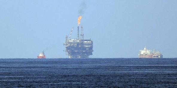 Terminal offshore de l'italien ENI au large de la Libye.