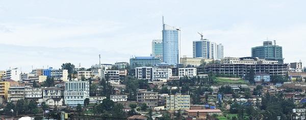 Centre-ville de Kigali.