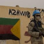 Un soldat de la Minusma à Kidal, pendant le vote de la présidentielle, le 28 juillet 2013.