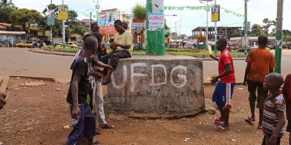 Des partisans de l'UFDG à Conakry.