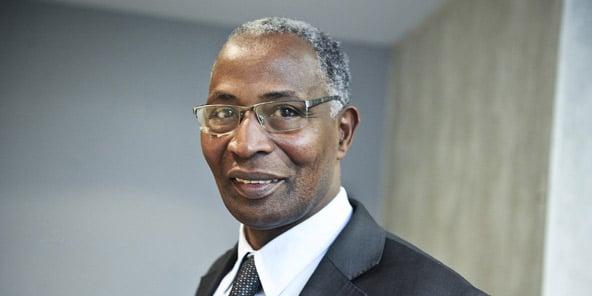 Amadou Bah Oury, fondateur de l'UFDG, le 3 janvier 2014 à Paris.