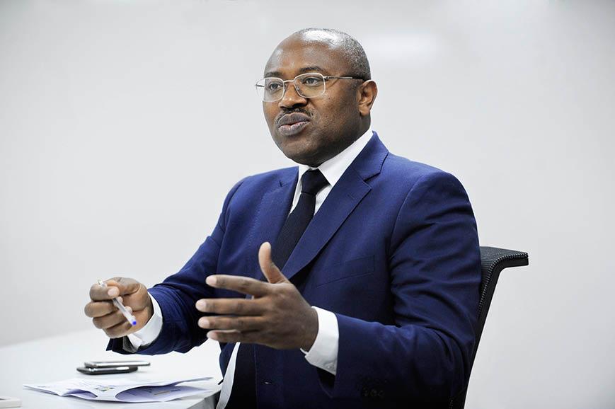 Jean Fidèle Otandault,  le ministre gabonais du Budget.