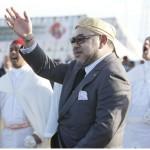 Le Roi du Maroc, Mohammed VI, lors de sa tournée dans le Golfe en avril 2016.