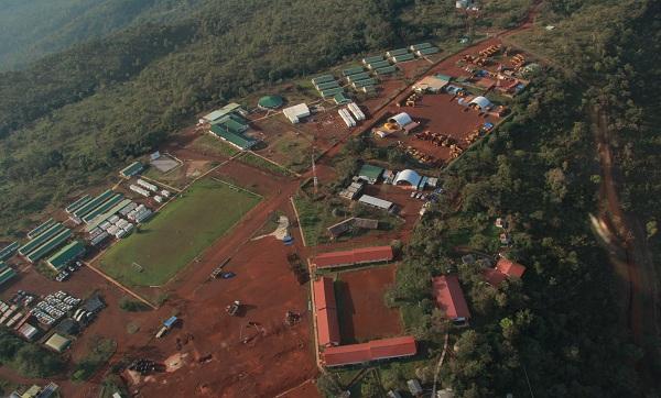 Vue du Camp Kanga de la mine Simandou en Guinée.