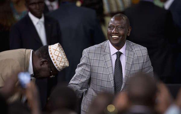 Le vice-président kenyan William Ruto, le 26 juillet 2015, à Nairobi au Kenya