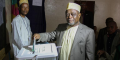 Le vice-présidentdes Comores Mohamed Ali Soilihi lors d'élections locales le 25 janvier 2015 à Mbeni