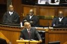 Le président sud-africain Jacob Zuma devant le Parlement, au Cap, le 11 février 2016.