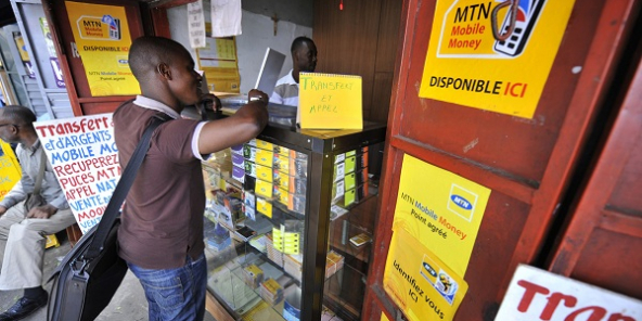 Point de recharge MTN Mobile Money (image d'illustration).