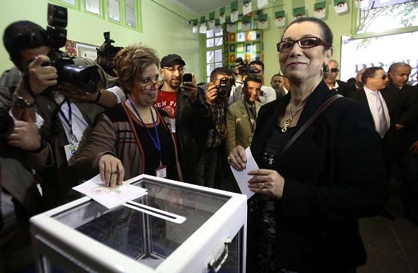 Louisa Hanoune, secrétaire générale du Parti des travailleurs (PT), en avril 2014.