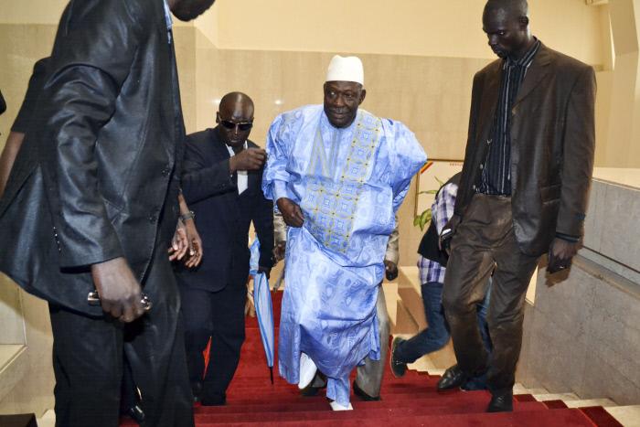 L'ex-président Moussa Traoré à la cérémonie d'investiture d'IBK, en septembre2013.